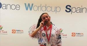 Noelia Quintela, de San Xoán de Río, bronce no Dance World Cup Spain