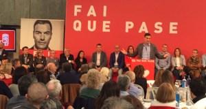 O xantar-mitin de Pedro Sánchez en Ourense, en imaxes