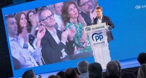 """Feijóo: """"Jesús Vázquez non é só o candidato do PP, é o de todos os ourensáns que queren a Ourense"""""""