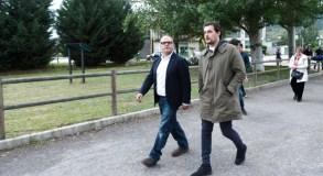 O candidato popular á alcaldía da Rúa percorre con Baltar o municipio para plantexarlle diversas demandas
