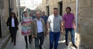 Luís Villares e Davide Rodríguez (En Marea) reúnense cos candidatos de Trives e Manzaneda