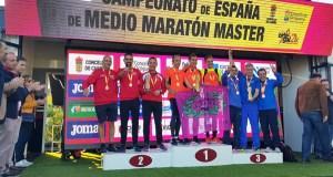 O equipo masculino do Adas, subcampión de España máster de medio maratón