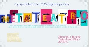 """O grupo de teatro do IES Martaguisela representará """"Metateatro"""" no Barco"""