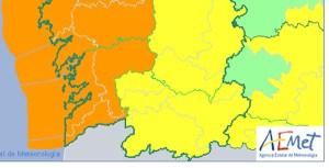 Aviso amarelo por forte vento na provincia de Ourense