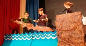 """""""O arao Arquímedes"""", reivindicación medioambiental feita teatro no CEIP Condesa Fenosa do Barco"""