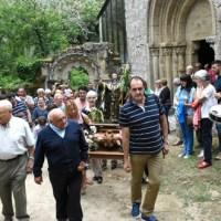 A procesión de San Bieito rodea un ano máis o Mosteiro de Santa Cristina de Ribas de Sil