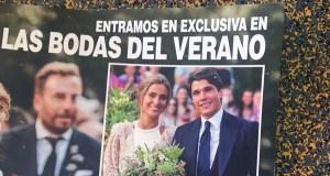 Pablo Castellano, con raíces valdeorresas, portada da prensa rosa nacional pola súa voda con María Pombo