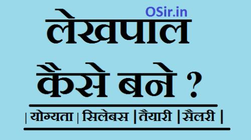 लेखपाल कैसे बने ? कार्य/सैलरी/योग्यता/सिलेबस के बारे में जाने ! नई भर्ती How to become Lekhpal in hindi