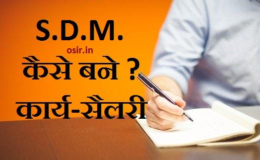 S.D.M. ऑफिसर कैसे बने? कार्य/परीछा/सैलरी की सारी जानकारी ! How to become an SDM officer in hindi?