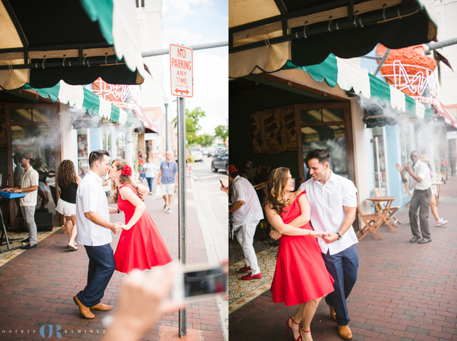 calle ocho engagement shoot