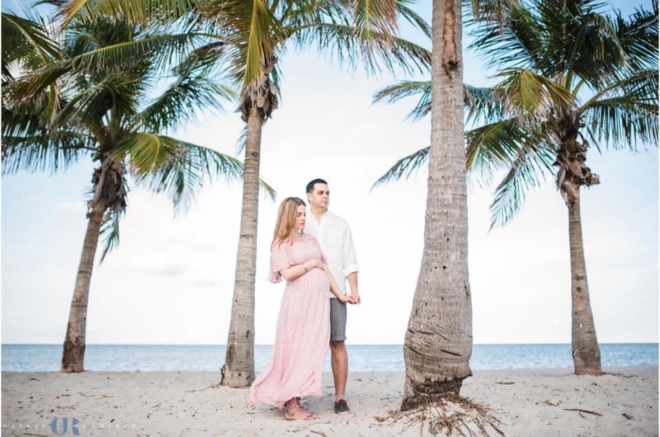 Miami Beach Maternity Photography Session | Crandon Park Key Biscayne