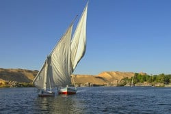 Sailing down the Nile during Egypt private tour