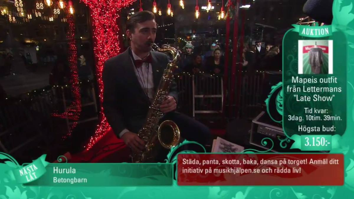 Live at Musikhjälpen (Radio and TV broadcast)