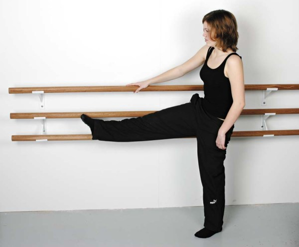 Ballet bar í mahóní viði