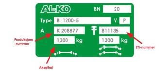 AL-KO ETI-nummer akselplate