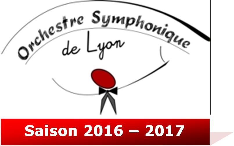 Orchestre Symphonique de Lyon (OSL) Saison 2016-2017