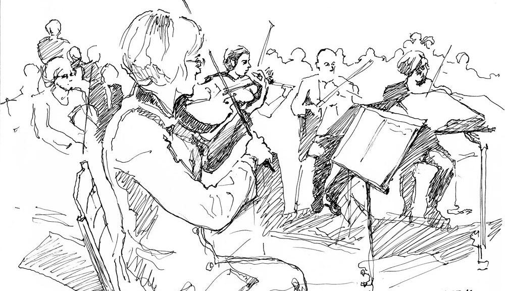 L'OSL en concert a Lyon le 18/03/2013 dessinés par Oleg, http://oleg-art.com