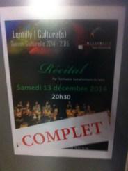 Orchestre Symphonique de Lyon Concert 13/12/2014 Complet