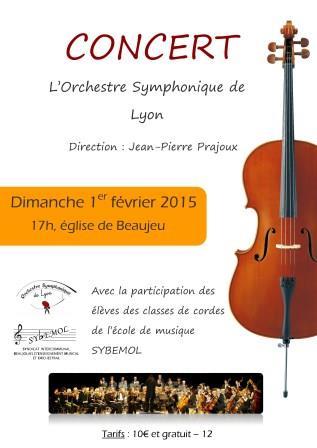 Concert de l'OSL à Beaujeu 1er Février 2015
