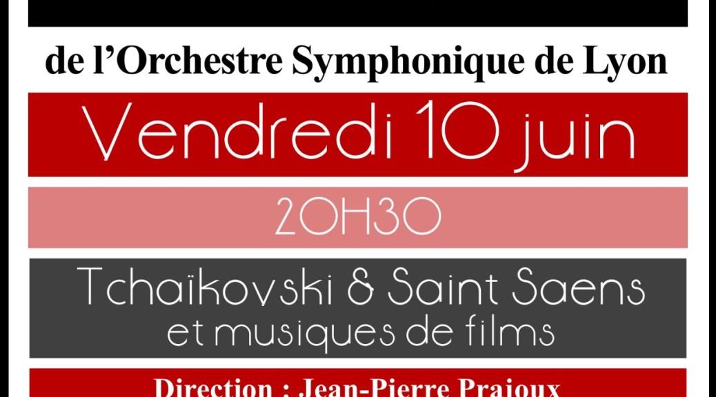 Concert de l'OSL le 10 Juin 2016
