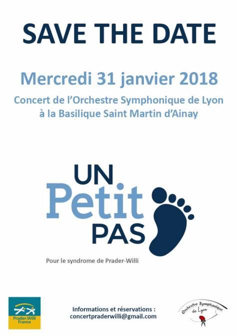 Concert Orchestre Symphonique de Lyon pour Prader Willi le 31 janvier 2018 à Ainay