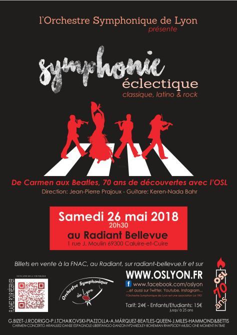 Symphonie éclectique : de Carmen au Beatles par l'Orchestre Symphonique de Lyon au Radiant le 26 Mai 2018