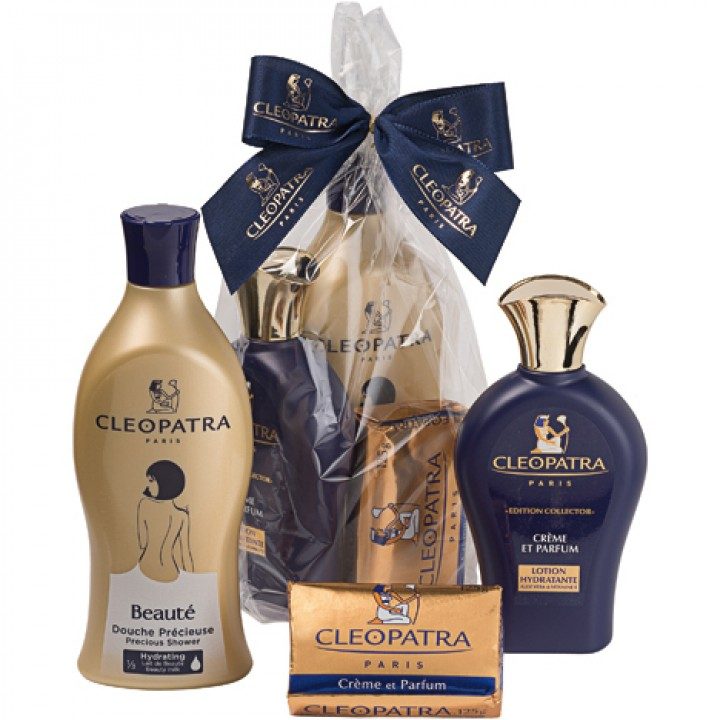 cleopatra gp shower 500ml lotion 250ml soap 125gr