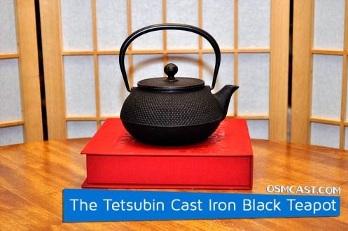 The Tetsubin Cast Iron Black Hobnail Teapot