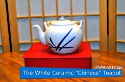 "The White Ceramic ""Chinese"" Teapot"