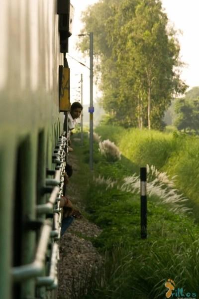 Train on the way to Varanasi