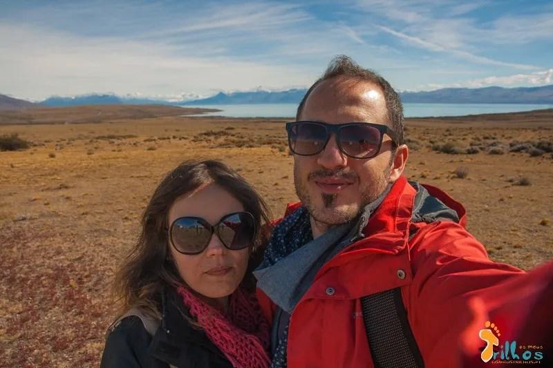 O Sérgio e a Sandra no Glaciarium, em EL Calafate