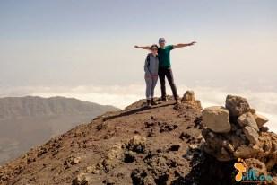 Chegada ao ponto mais alto do Pico do Fogo