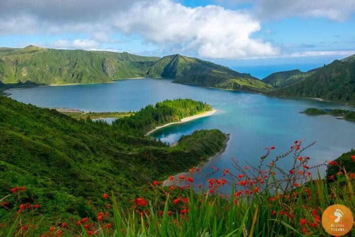 Lagoa do Fogo na Ilha de São Miguel, os Açores