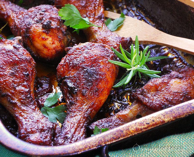przepis na kurczaka pieczonego w winie
