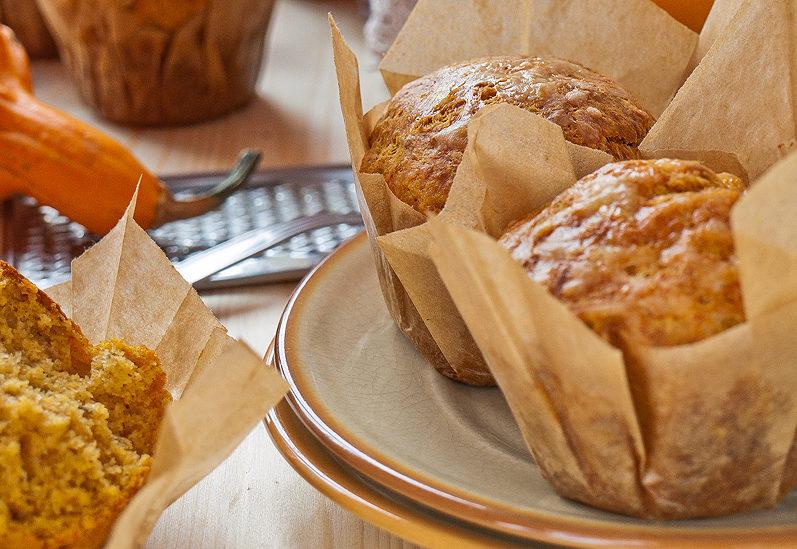 Pikantne wytrawne muffiny serowe z dynią
