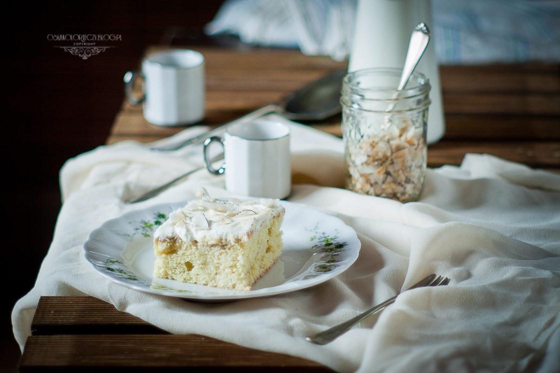 ciasto trzy mleka mleczne - tres leches