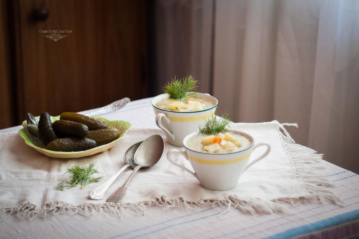 przepis na domową zupę ogórkową