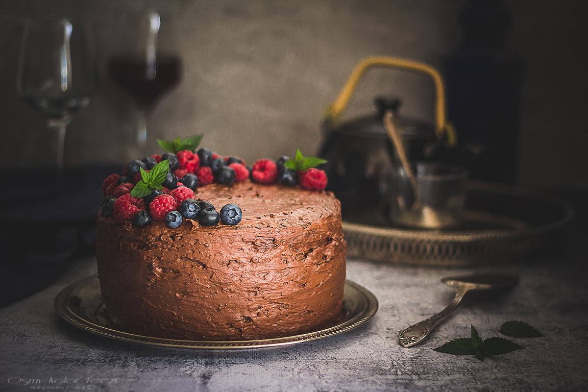 musowy tort czekoladowy