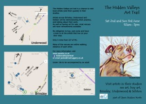 Hidden Valleys Art Trail flyer - page 1