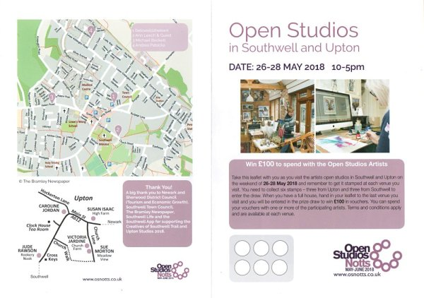 Open Studios in Southwell and Upton - trail leaflet1