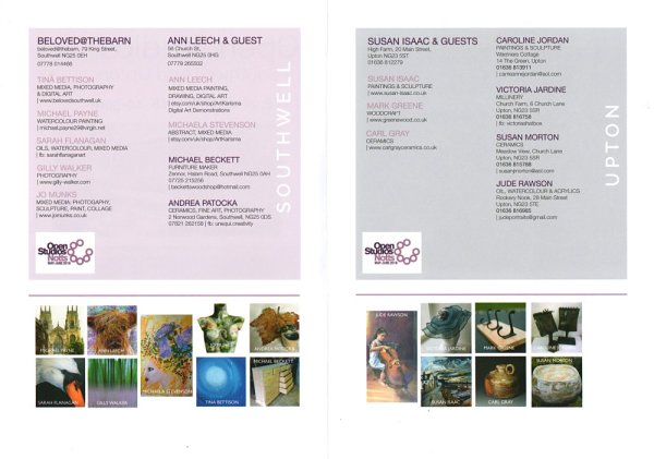Open Studios in Southwell and Upton - trail leaflet2
