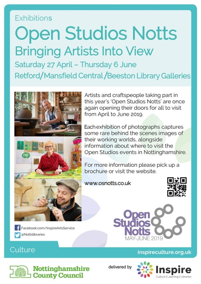 Retford, Mansfield Central & Beeston Library Exhibitions