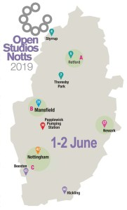 OSNotts events map 1-2 June