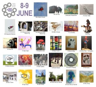 OSNotts artists photomontage 8-9 June