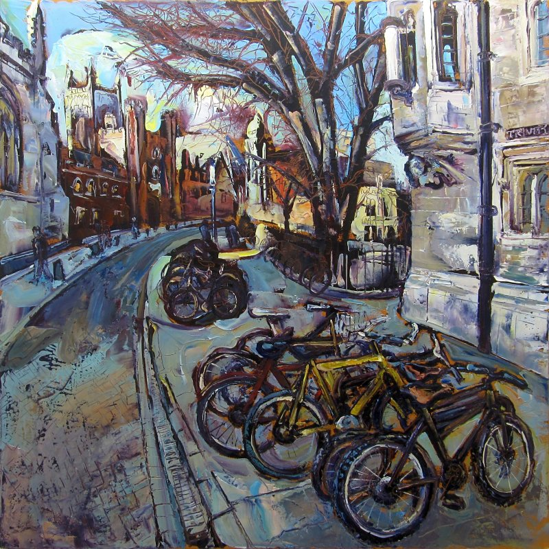 Susan Isaac - 'Bicycles outside St Johns Cambridge'
