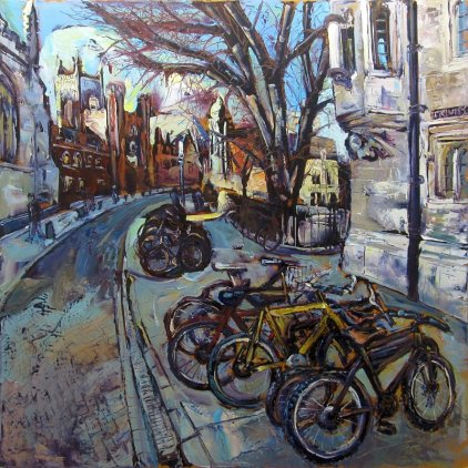 Susan Isaac - 'Bicycles outside St Johns Cambridge'
