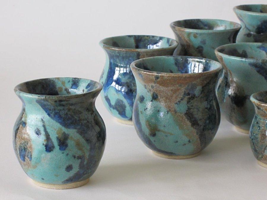 4 Sarah Burton - Turquoise vases