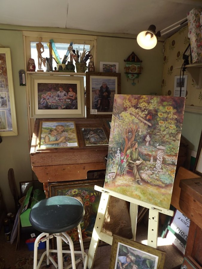 Jude Rawson - painting on easel