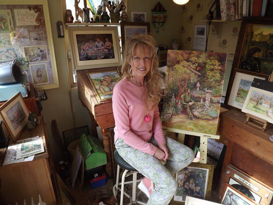 Jude Rawson - sat in Summer House
