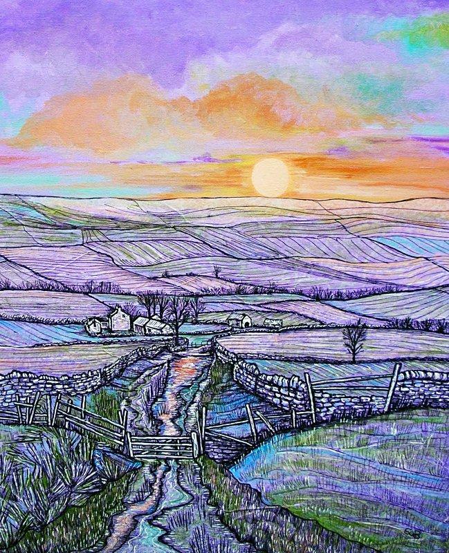 Sally Brackett - Purple Sunset